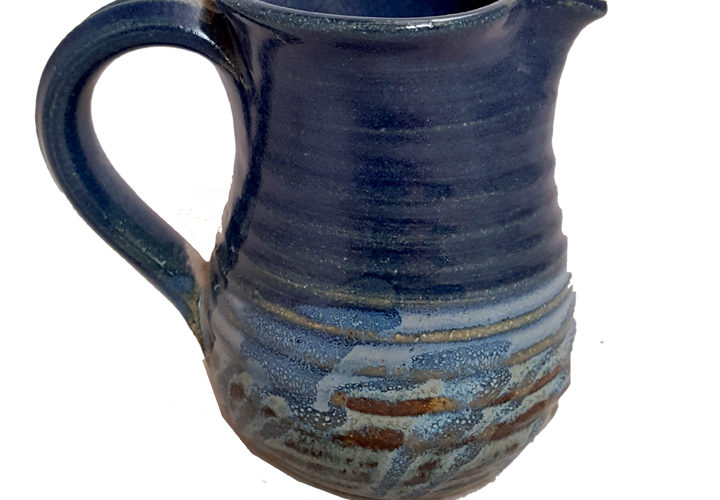 Creamer or Cruet in Midnight Reflections Glaze Pattern